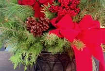 Holiday Arrangements / Saline Flowerland's creative designs for the holiday season.  Using fresh evergreens, pine cones and red berries our arrangements make beautiful hostess gifts or quickly bring a festive spirit to your home.