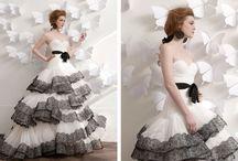 wedding dress <3 / ….something red....