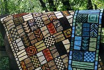 quilts: stained glass and mosaic