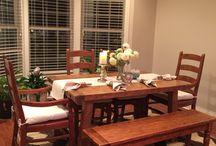 Pottery barn dinning room furniture / Love it!