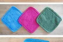 Knitting dishclothes