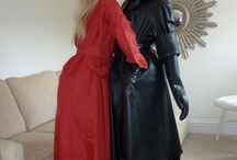 Lady in Red / We all love a lady in red... Especially dressed in #RubberRainwear being naughty!