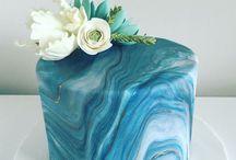 márványos torták