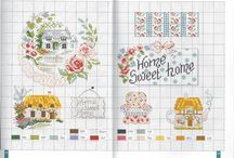 Cross stitch - houses