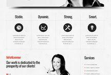 Inspirativní webdesign / Trocha inspirace.. jednoduché, střízlivé, ale úžasné weby.