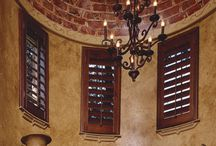 Basswood Shutters / Our Basswood line provides established wood covering options for homeowners today. Each Basswood shutter is custom built with traditional handcraftsmanship to create a beautiful, elegant high performing wood shutter. Our shutters are custom designed for your home and offered in a variety of different shades of white, stains and paints. Specialty shapes are also available.
