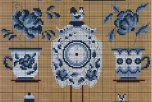 Blue Delft Cross stitch
