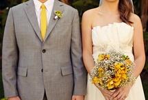 yellow + gray / all sorts of yellow + gray wedding goodness