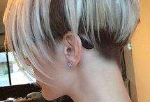 short hair/platinum