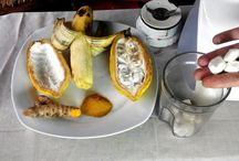 Diy face mask cocoa, banana, turmeric!