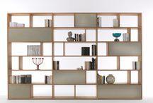 Knihovny, stěnové sestavy