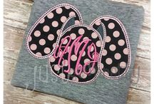 Embroidery for Spring / St.Patrick's Day, Easter, April Showers, May Flowers and all other Springtime designs!
