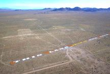 """Abandoned Runway / Street performers together under the name Indeclinable have """"occupied"""" an abandoned runway in the desert of Mojave US. There they made graffiti illegally largest in the world, as they say."""