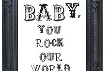 Rock baby room & toys / Baby room ideas for alternative parents and baby