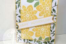 Mother's Day Cards / handmade mothers day cards by Lisa Ann Bernard of Queen B Creations, Independent Stampin' Up! Demonstrator.  papercrafting ideas and instructions