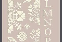 Alphabet - Алфавит - cross stitch вышивка