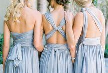 сероголубое платье