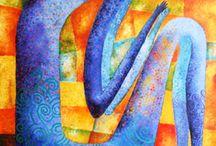 """Exhibition """"IGNACIO GUERRERO"""" / O mundo surrealista de Ignacio Guerrero evoca lugares ocultos no caminho do impossível, homens e mulheres em plena metamorfose, cavalos, aves, todos são elementos recorrentes deste universo, embebidos em óleo e acrílico inundam a tela de poesia."""