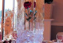 Esküvői dekoráció (piros) - Wedding decoration (red)