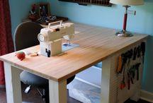 mesa máquina de coser