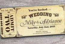 Wedding tickets
