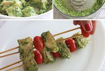 Recipes for Kebabs. Kabobs. Skewers. You get the picture. / All types of kebab recipes for grilling, especially in the summer. Chicken, veggie, beef, anything you can put on skewers and grill that tastes good you will find here! Kebabs are a quick, healthy, delicious and often colorful way to get a family meal on the table!