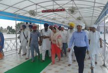 Dharmik Darshan Yatra / Minister of Food Processing Industries Mrs. Harsimrat Kaur Badal visits Talwandi Sabo to pay homage to the pious relics.