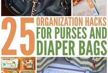 Purse organization / Great ideas and tips on how to keep your purse neat and organized!