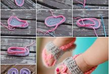 Craft / Baby crocheted shoes