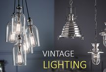 Vintage Lighting /  Rustic lighting and vintage lighting are currently very popular and are even used to light  modern living areas. Mixing old style lighting in a contemporary environment can give fantastic cosmetic lighting results.
