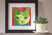Corrina Rothwell - cat prints