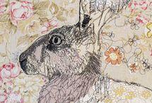 Machine Embroidery / Fabric and thread fine art.