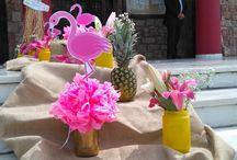 Candy bar & Διακόσμηση Βάπτισης Flamingo