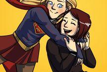Super girl e flash