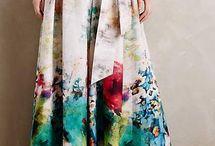 falda larga para fiesta