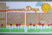 Layouts Scrap Page Summer Days