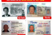 Đổi bằng lái xe quốc tế sang Việt Nam