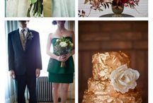 Emerald Burgundy Beige Wedding