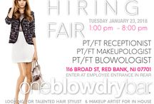 Hair Stylist Jobs / Looking for a job in the hair field? Hate cutting or coloring hair? Join the oneblowdrybar (Red Bank) for our hiring fair in Red Bank, New Jersey on Tuesday January 23, 2018 between the hours of 1:00pm _ 8:00pm