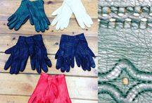 Leather gloves / Vintage Mens and Womens leather and suede gloves