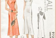 Lingerie, Pajamas, House coats, Nightgowns, Underwear Patterns and Illustrations / Old, Vintage, Retro for Women and Men