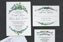 Wedding invitation / Save the date and invitations