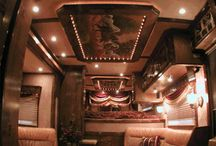 Cowboy limos / Hauling down the road in style.  Living quarters ideas