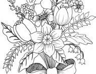 motiv květy-vyšívání