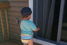 Mini Fan Vert qui Vive / Couches lavables portées sur des bébés! De beaux popotins, assurément!