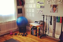 Home workout space