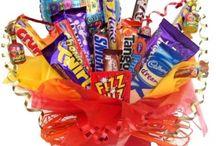 Chocolate Bar & Balloon Bouquets