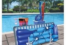 poolside storage ideas / by Rachel McKinney