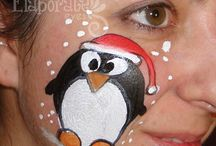 face painting natale