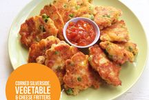Vegetable / Corn silverside &vegetable patties